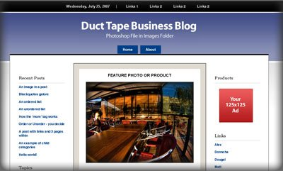 Duct Tape Blog Theme