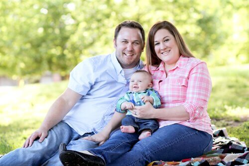 Cory, Lindsey and Caloway Miller in Oklahoma City (Pictures by Kelsi Pritchard)